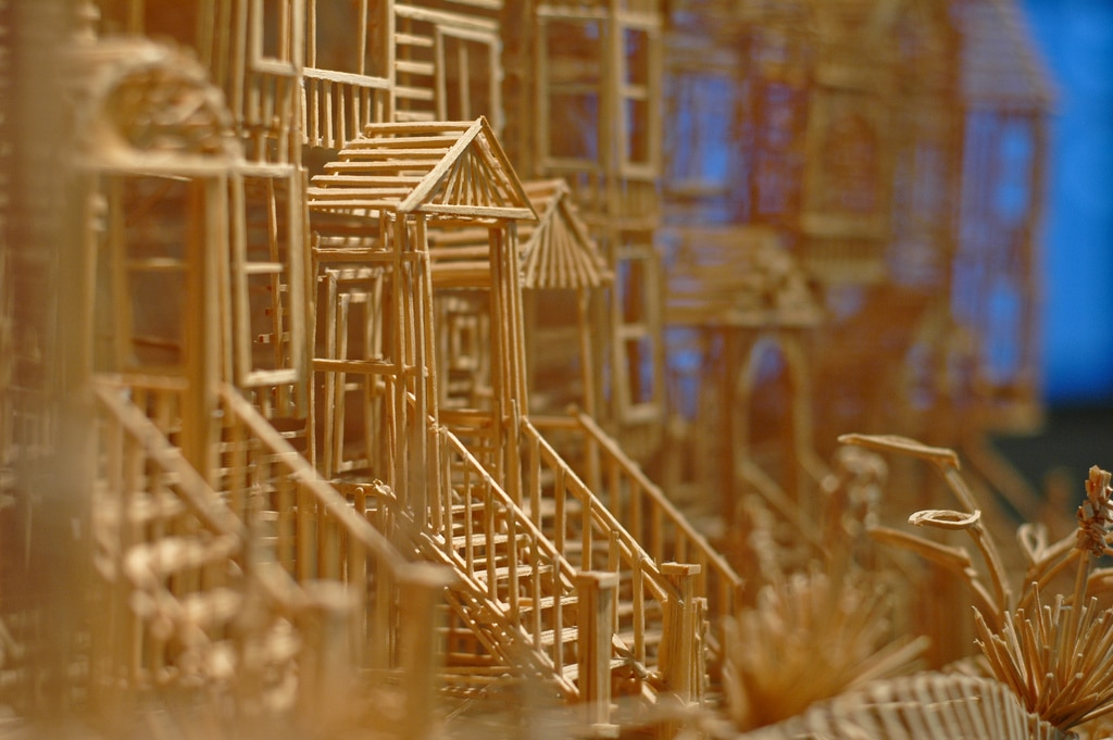 100000 Toothpick City Scape Build