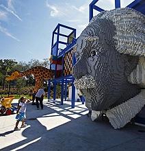 Giant Albert Einstein Head Created Using Lego