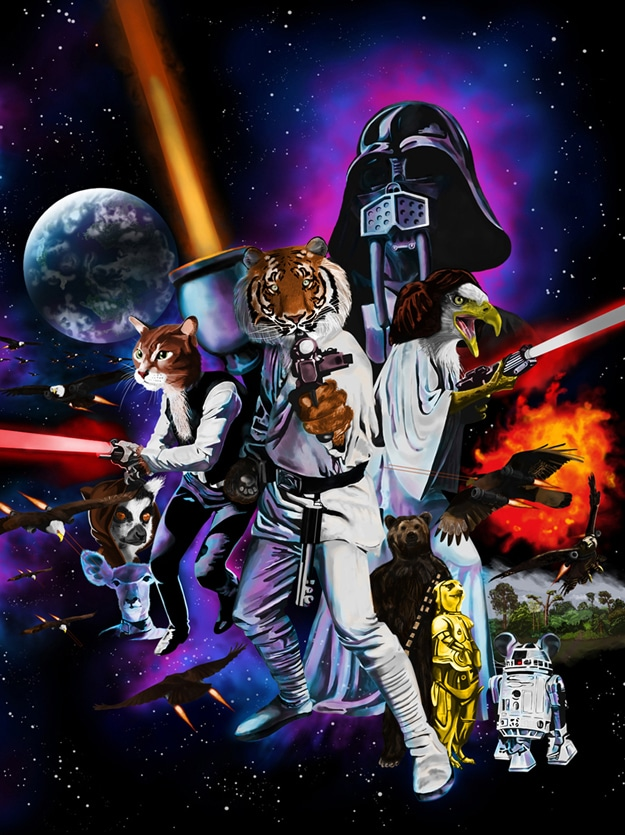 Star Wars Inspired Animal Wars Illustration