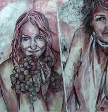 Red Wine Paint Portraits