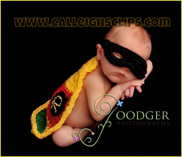 Geeky Babies: Batman & Robin Crocheted Baby Costumes