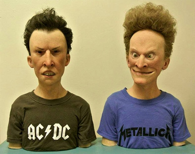 Beavis & Butthead IRL: Realistic Sculptures (Complete With Zits)
