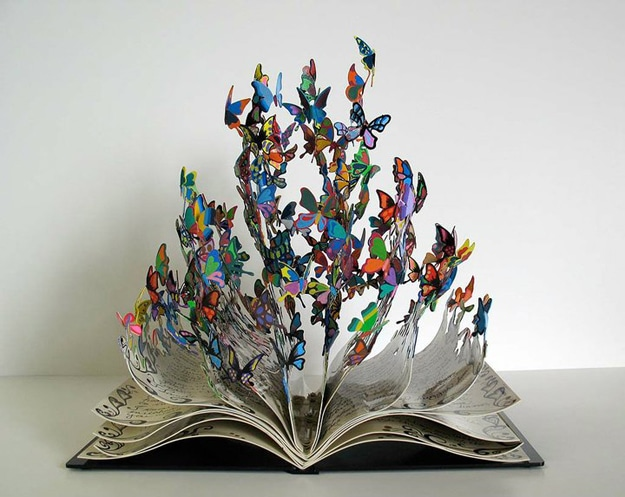 Butterfly Flying From Book