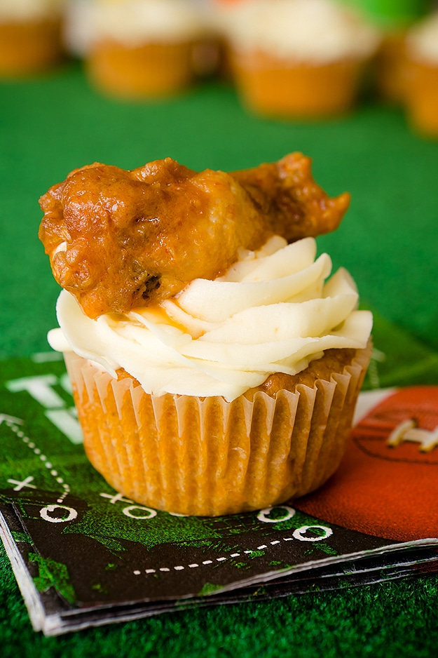 Chicken Wing Cupcakes: A Food Design For Football Games