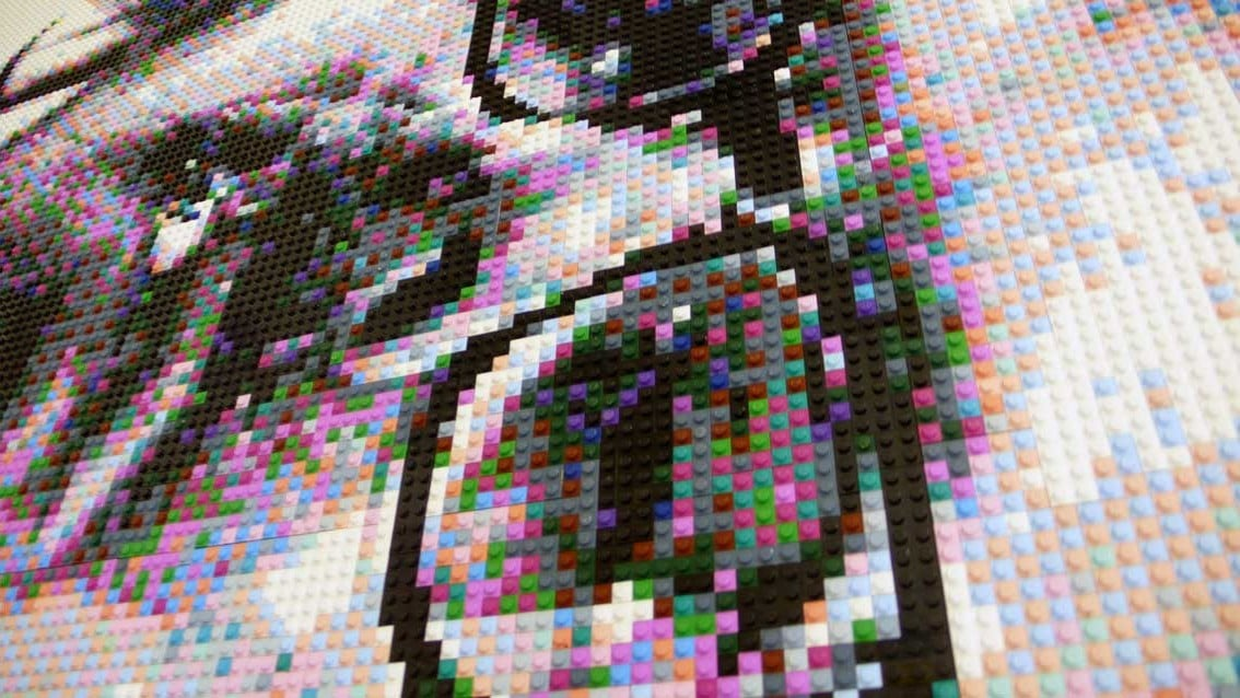 Chuck Close Lego Self Portrait