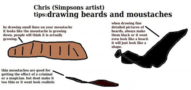 Draw Cartoon Beards and Moustaches