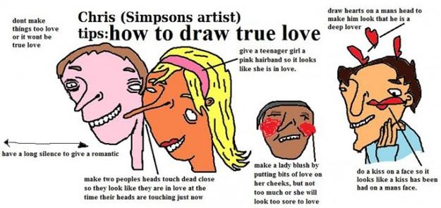 Draw True Love Cartoon Characters