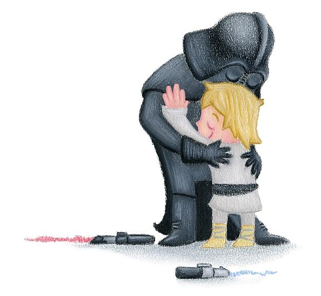 Darth Vader Luke Skywalker Hugs