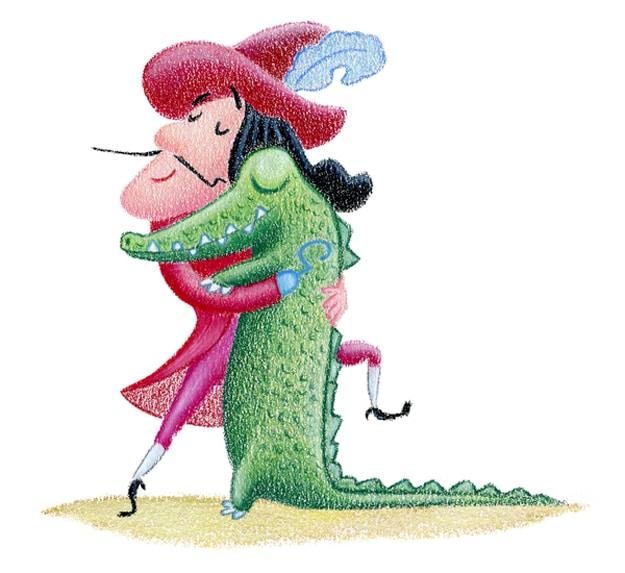 Captain Hook Crocodile Hugging