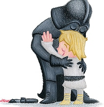 Hugs For Peace Pencil Illustrations