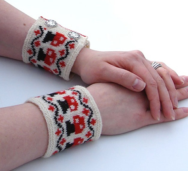 Geekify Your Wrists: Knitted Mario Mushroom Pulse Warmers