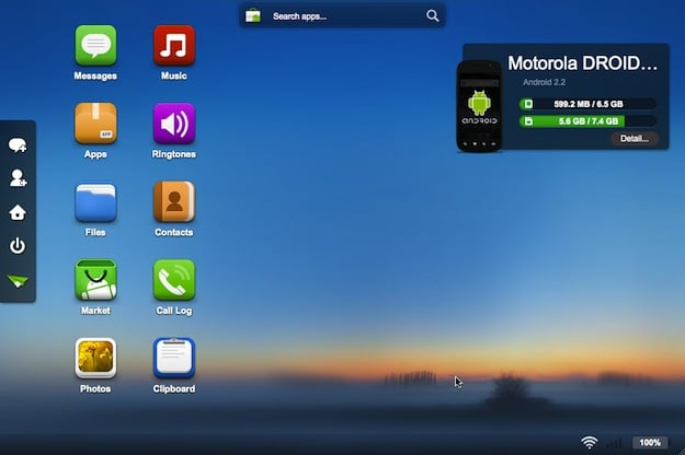 Motorola Droid AirDroid Screenshot
