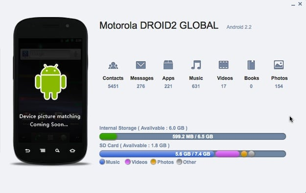 Motorola Droid Global Screenshot