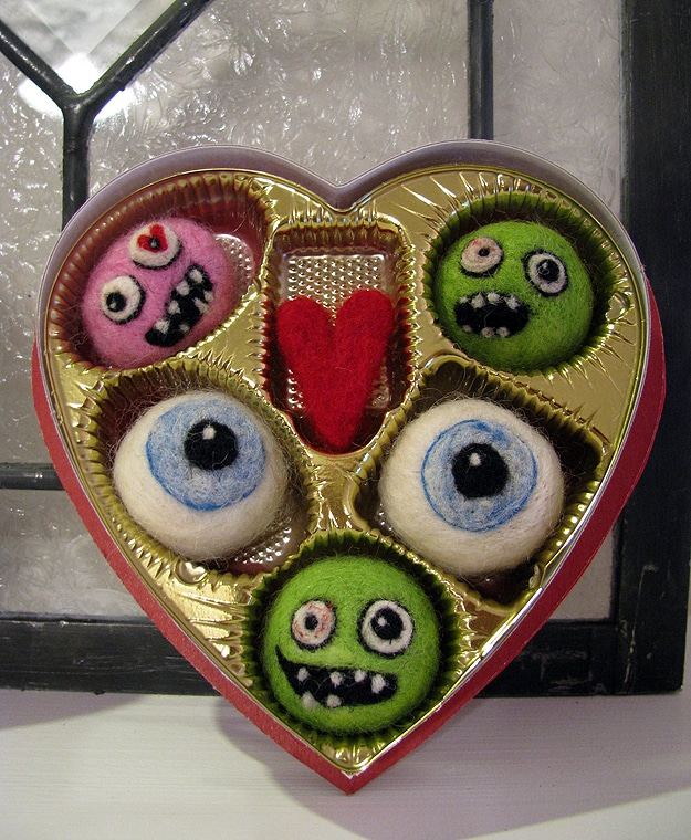 Creative Crafting: Needle Felted Zombie Valentine's Day Candy
