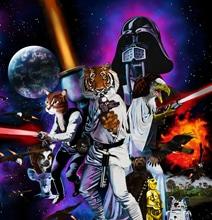 Star Wars Inspired Animal Wars Illustration