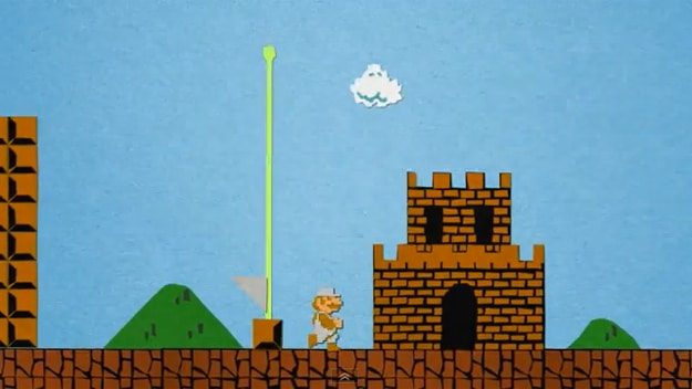 Intense Super Mario Papercraft Stop Motion [Video]
