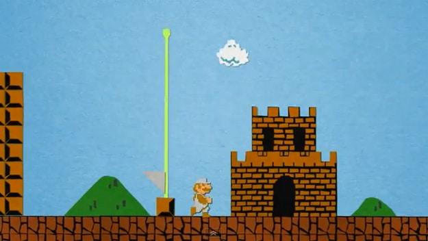 Papercraft Super Mario Stop Motion