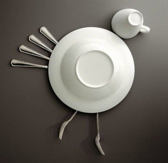 Art With Kitchen Dishes