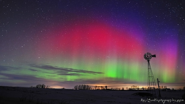 Aurora Borealis Reds and Purples