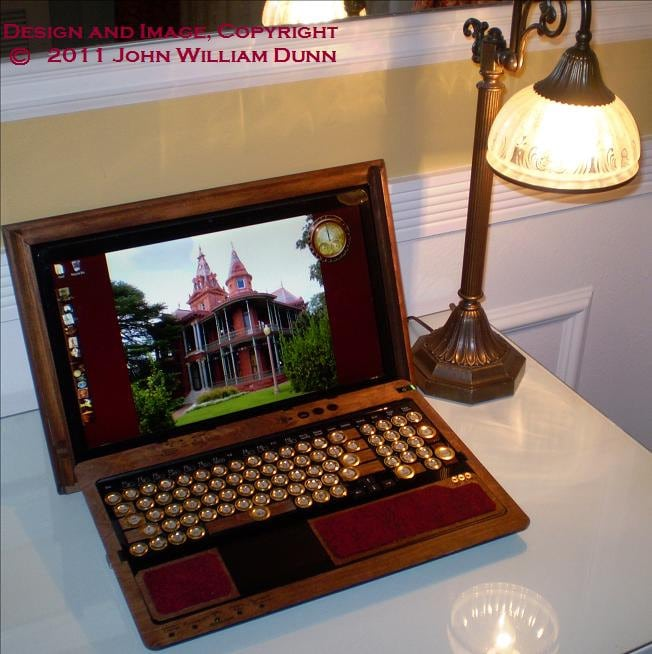 The Mesmerizing Sony Laptop Steampunk Treatment