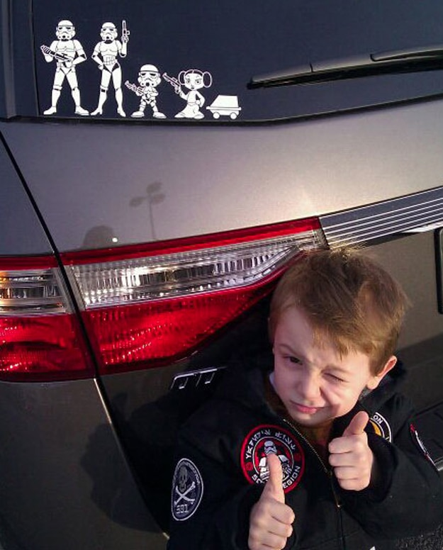Star Wars Family Car Decals For Moms, Dads, Kids & Pets
