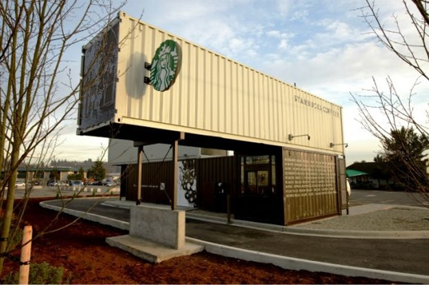 Starbucks Location Built From Recycled Shipping Containers