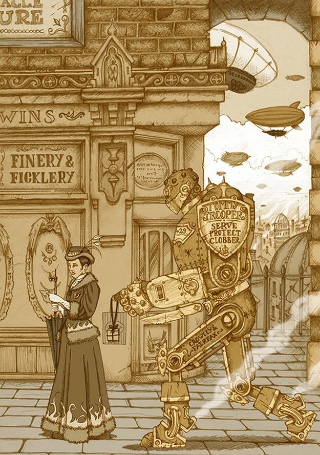 A Pete Katsiaounis Steampunk Illustration
