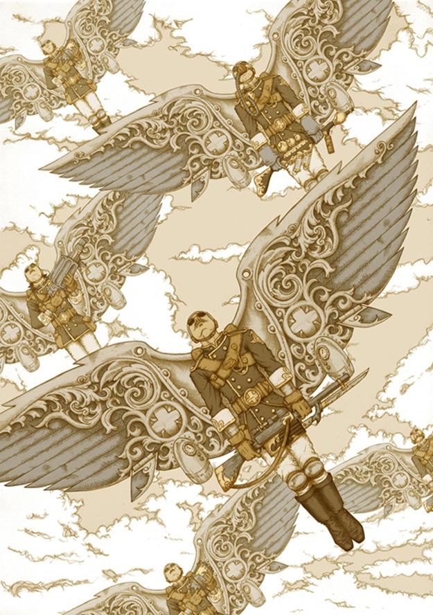 Steampunk Illustration By Pete Katsiaounis