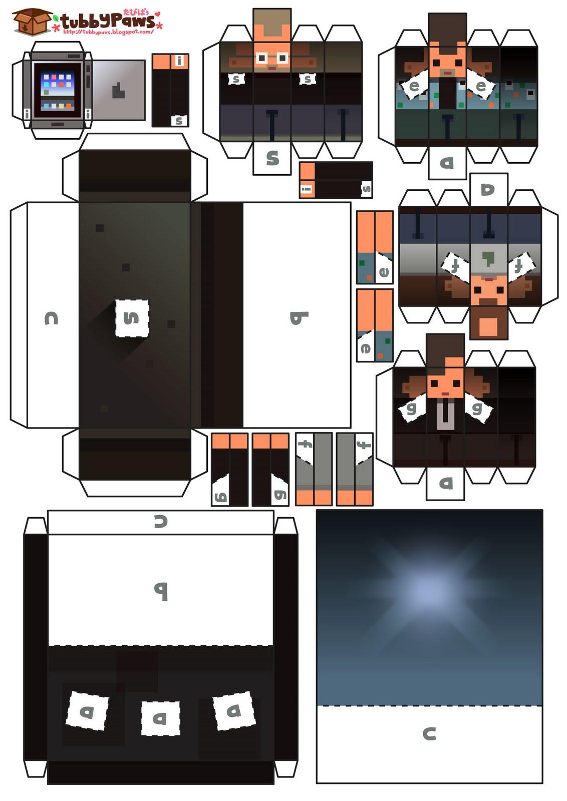 Steve Jobs Keynote Papercraft Template