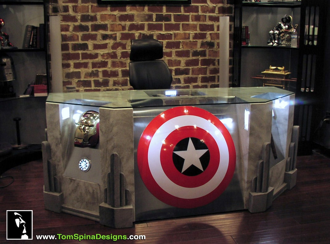 Become A Superhero With The Custom Built Avengers Office Desk Bit Rebels