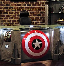Become A Superhero With The Custom Built Avengers Office Desk