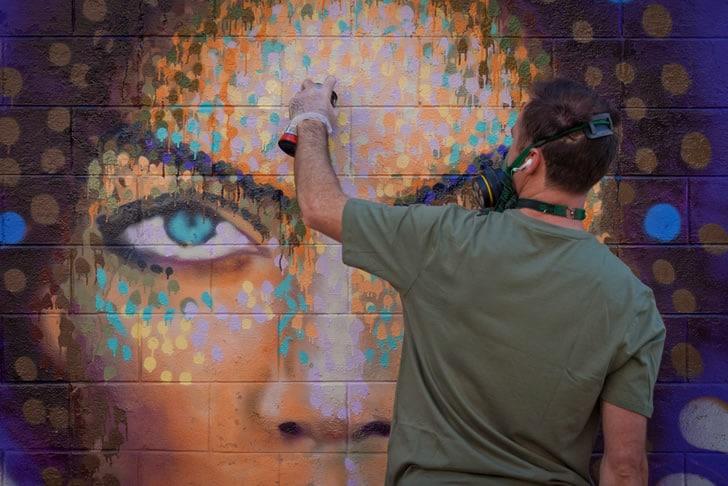The Graffiti Pointillism Artwork Approach