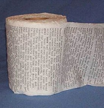 Moby Dick Typed On 6 Rolls Of Toilet Paper