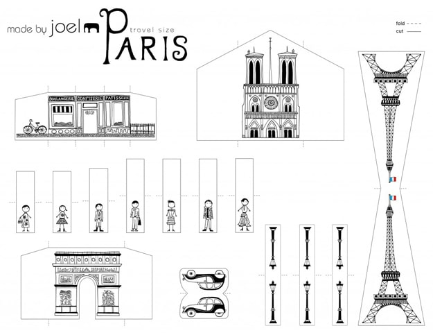 DIY Paris Paper Craft Design