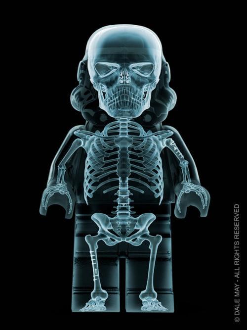 X-Ray Stormtrooper Lego Figurine Print