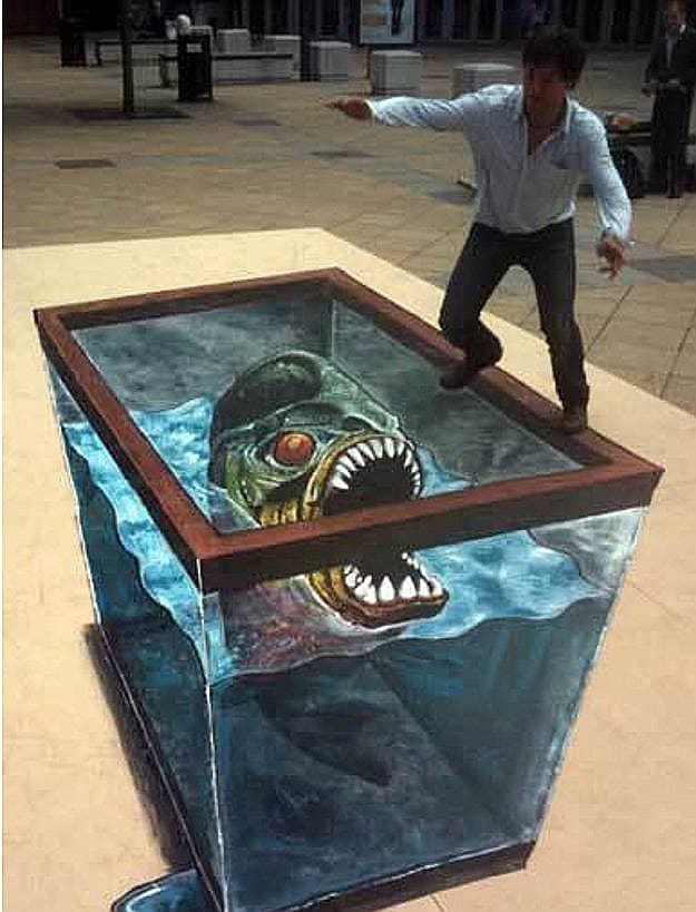 canvas art sea monster