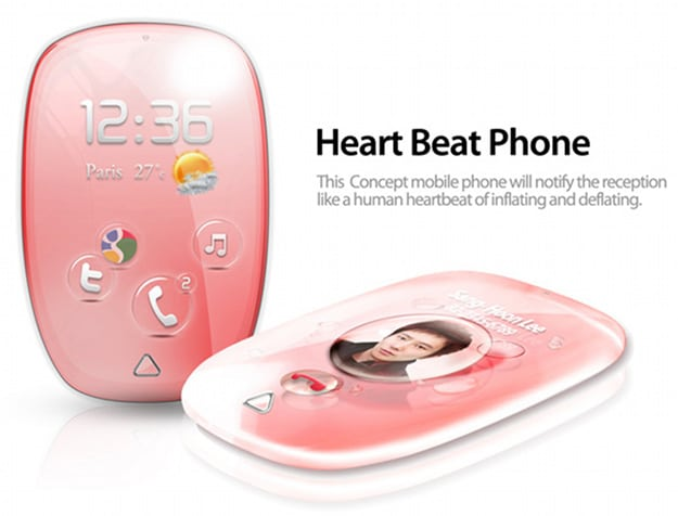 Heartbeat Phone: The Smartphone With A Beating, Ringing Heart