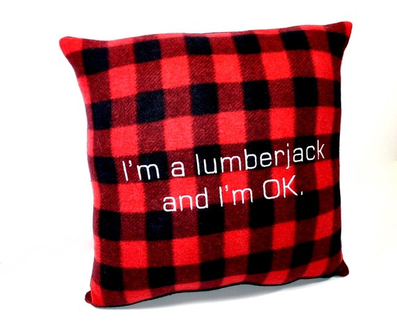 I'm A Lumberjack: A Pillow That's Really Ok