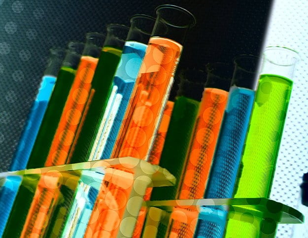 Colorful Lab Chemistry Tests