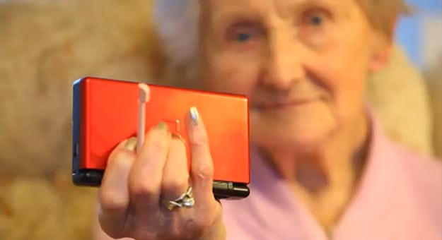 100-Year-Old Woman Stays Young Playing Her Nintendo
