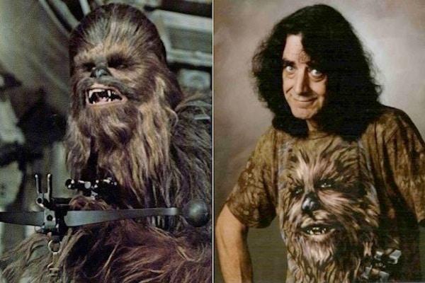 Actor Inside Chewbacca Costume