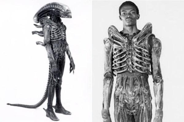 Actor Inside Alien Costume