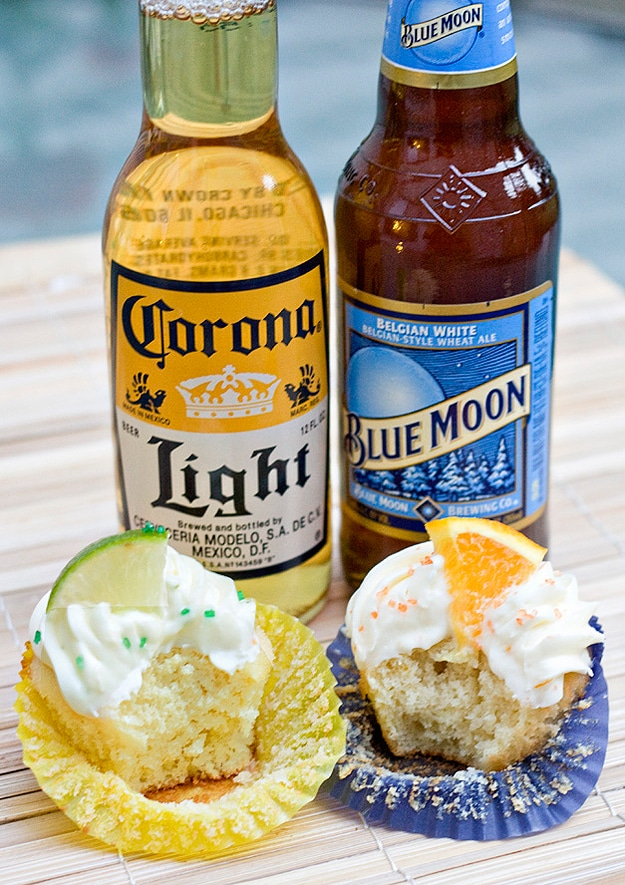 Beer Cupcakes: Corona & Blue Moon Sweetness