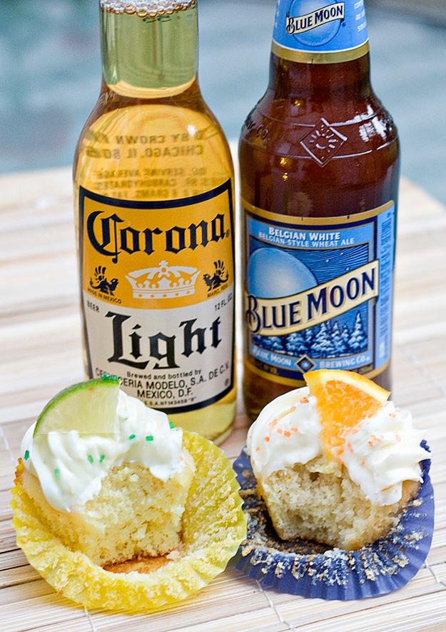 Beer Cupcakes: Corona & Blue Moon Sweetness
