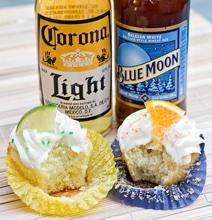 Corona Blue Moon Cupcakes
