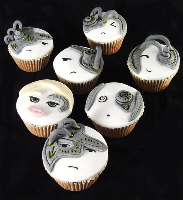 Seven of Nine Borg Cupcakes