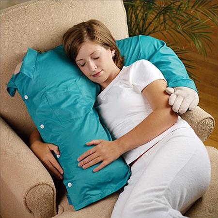 Fake Husband Hugs Pillow