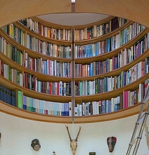 The Perfect Writer's Cave: Inspiring Office With Overhead Library