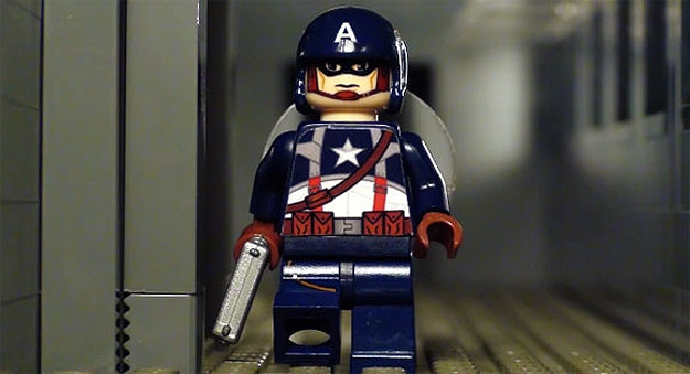 Captain America Kicks Ass In Lego Stop Motion