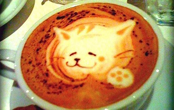Latte Kitty Coffee Art
